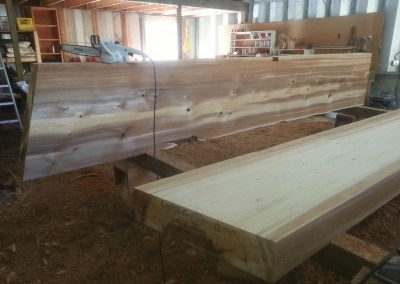 Hitacu Community Centre_Wood Prep
