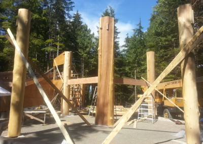 Off Grid Island Home_Raising Beams 3
