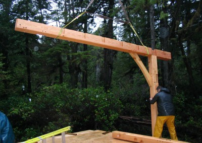 Tofino Home_Raising the Frame 2