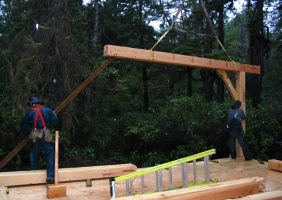 Tofino Home_Raising the Frame